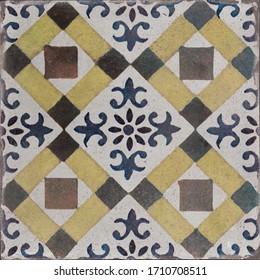 Portuguese azulejo seamless pattern tile, morocco seamless pattern decorative mosaic tile