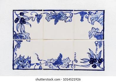 """Portuguese blue and white ceramic """"azulejo"""" tiles"""