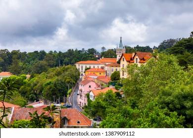 Portuguese city of Sintra, a UNESCO World Heritage Site. Sintra city near Lisbon. Sintra, Portugal.
