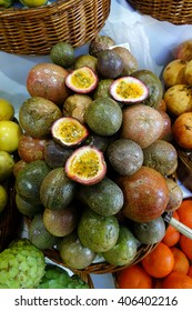 Portuguese market Mercado dos Lavradores, Funchal, Madeira, Portugal - vegetables and fruits