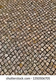 Portuguese Sidewalk after a rainy day Lisboa, Portugal