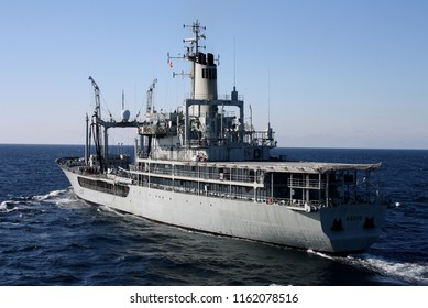 "Portuguese warship ""Bérrio"" sailing during an exercise"