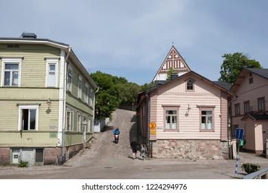 Porvoo (Borgo), Finland. Old street