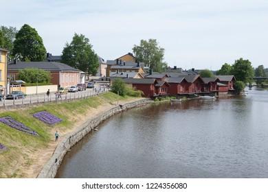 Porvoo (Borgo), Finland. River and boat sheds