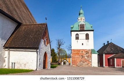Porvoo cathedral of the Evangelical Lutheran Church of Finland in Porvoo, Finland. It was built in the 15th century