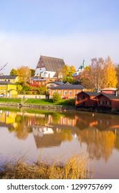 Porvoo city and Porvoonjoki river view, Finland