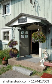 Porvoo, Finland - August 18, 2018: the entrance to the Museum in Porvoo, Finland