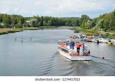 Porvoo, Finland - August 18, 2018: pleasure cruise ship in Porvoo, Finland