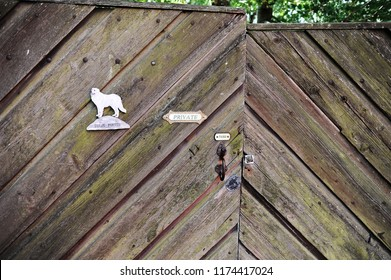 Porvoo, Finland - August 18, 2018: old gate of a house in Porvoo, Finland
