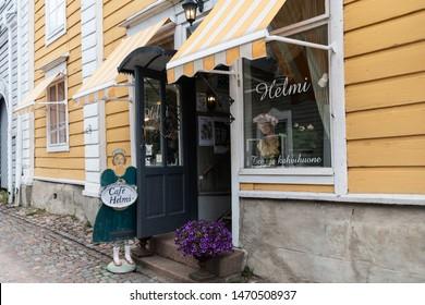 Porvoo, Finland - July 14, 2019 - Streets of Porvoo