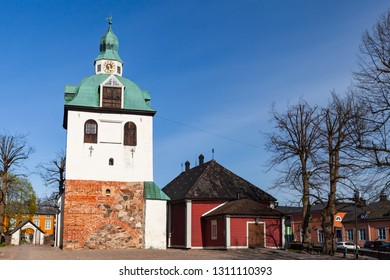 Porvoo, Finland - May 7, 2016: Porvoo cathedral in Porvoo town, Finland. It was built in the 15th century