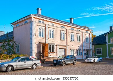 PORVOO, FINLAND - OCTOBER 18, 2015: The Little Chocolate Factory, the Shop and The Little Chocolate Cafe in the historic part of the town. Factory was founded in 2005.