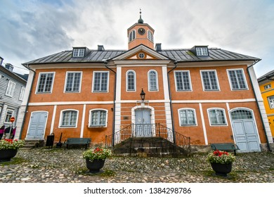 Porvoo, Finland - September 10 2018: The Holmin Talo or Porvoo Museum in the medieval village of Porvoo Finland.