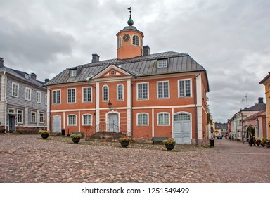 PORVOO, FINLAND - SEPTEMBER 22, 2018: Photo of Town Hall.