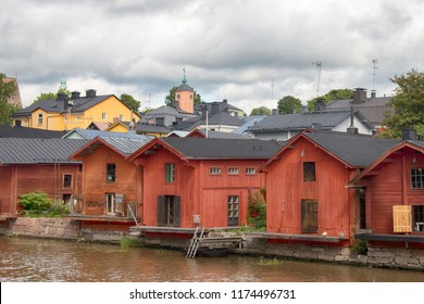 Porvoo river and it's scenic row of old rust red warehouses