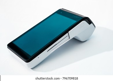 POS payment terminal with GPRS isolated on white background