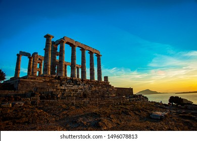 The Poseidon Temple in Athens