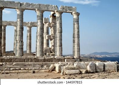 Poseidon Temple at Cape Sounion, Attica, Greece
