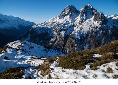 Posettes snow in Chamonix in Haute Savoie in France