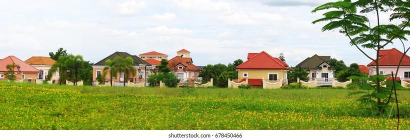 Posh village in suburban Manila Italian modern house design.