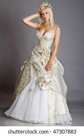 Posing bride