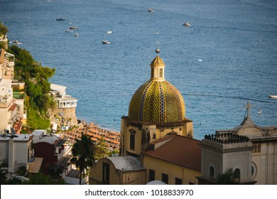 Positano Amalfi Coast Italy Landscape Sunny and happiness view sea water blue and sky italian village Ravello Nocelle Cinque terre pizza