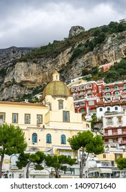 Positano , Amalfi , Italy - November 9th 2017 An amazing day around the Amalfi coast of southern Italy. those beautiful terraces that full of colorful buildings will blow your mind !