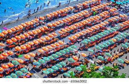 Positano beach, Amalfi coast, Italy