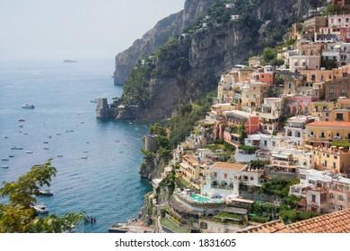Positano city, on the Amalfi Coast of Italy