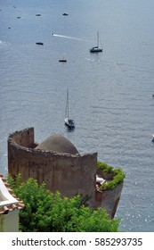 Positano Tower and boats