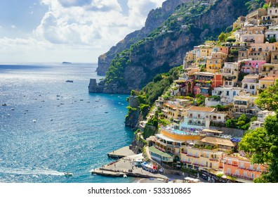 Positano village on Amalfi coast, Italy