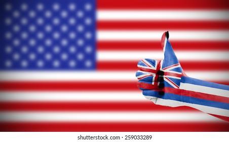 Positive attitude of Hawaii for USA