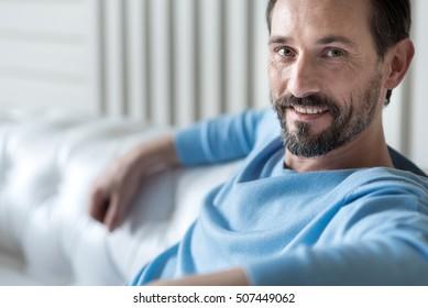 Positive happy man smiling
