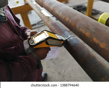 positive material identification measurement and test to find the analysis of the chemical composition to identify type, class, the grade of material to comply with code standard as per required.