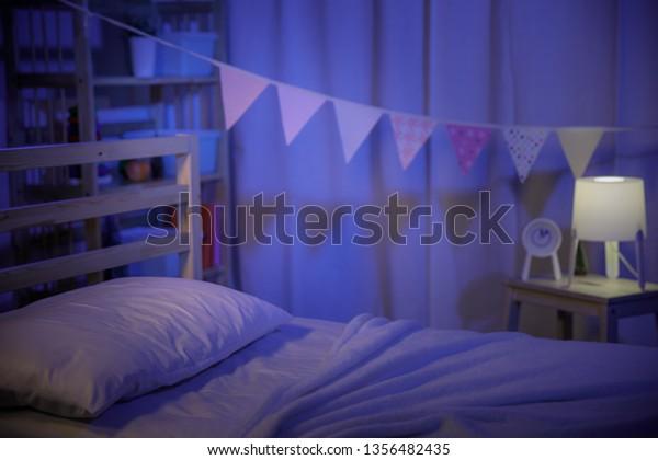 Positive Minimalist Colorful Room Kids Teenagers Stock Photo Edit Now 1356482435