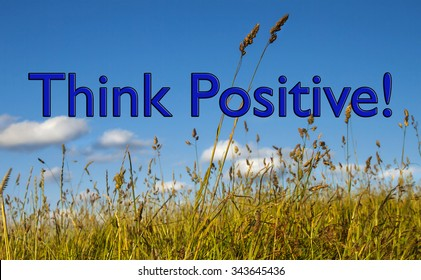 Positive Thinking, concept for business strategy, ideas, optimism and business acumen and attitude towards challenge, obstacles, hurdles and success.