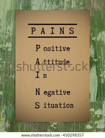 Positive Thinking Quote Pians Positive Attitude Stock Photo Edit
