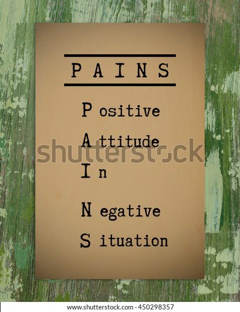 Positive Thinking Quote Pians Positive Attitude Stock Photo ...