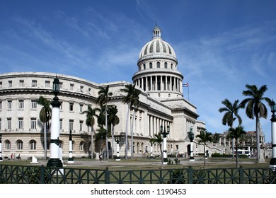 post card shot of the capitol building in havana