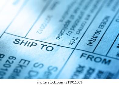 Post envelope label in toning