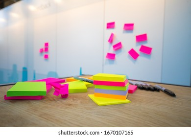 Post its with a feedback board