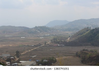 Post harvest paddy fields of Champhai, Mizoram