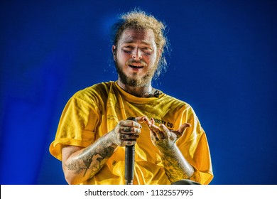 Post Malone performance at Rock Werchter Festival, Werchter, Belgium 5-8 July 2018