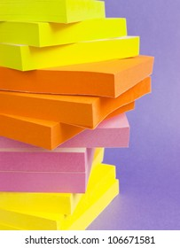 Post it notes colorful stack