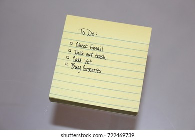 Post it notes for a to do list for a business