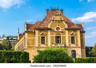 Post office in Brasov in a summer day, Transylvania, Romania