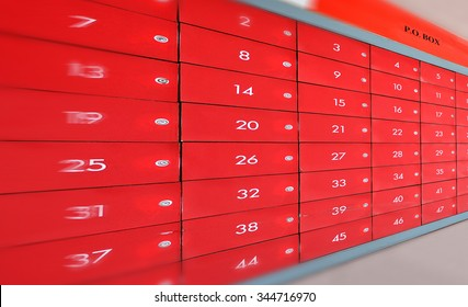 Post Office (PO box) - red mail box