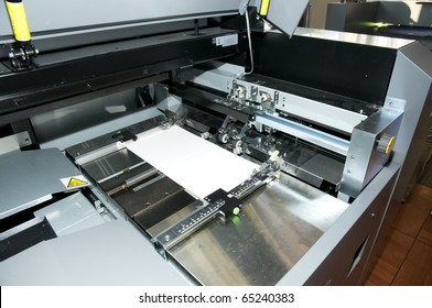 Post press finishing line: cutting, trimming, paperback and binding