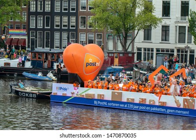 Post.nl PRIDE (LHBT-netwerk Post.nl) At The Gaypride Amsterdam The Netherlands 2019