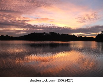 Post sunset scenery at Lower Peirce Reservoir, Singapore